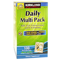カークランド シクネチャー Daily Multivitamin Pack With Energy Boosting Nutrients 100パック