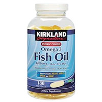 カークランド シクネチャー Enteric Coated Fish Oil Concentrate 1200 mg One Per Day Formulation 180ソフトカプセル
