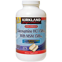 カークランド シクネチャー Extra Strength Glucosamine with MSM Joint 375錠