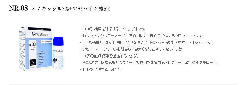 ミノキシジル15%プラスαローション(ポラリスNR-09)